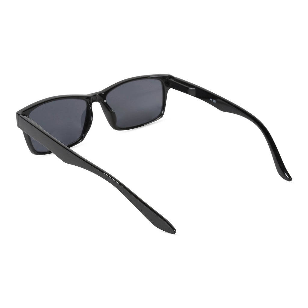 DII Sun Reading Glasses Black 1.75