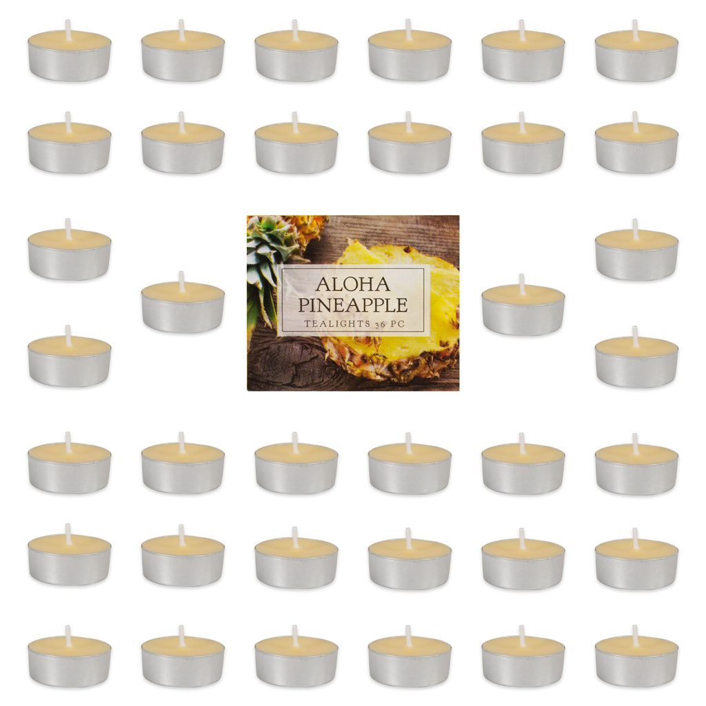 Aloha Pineapple Tealights 36 Pc