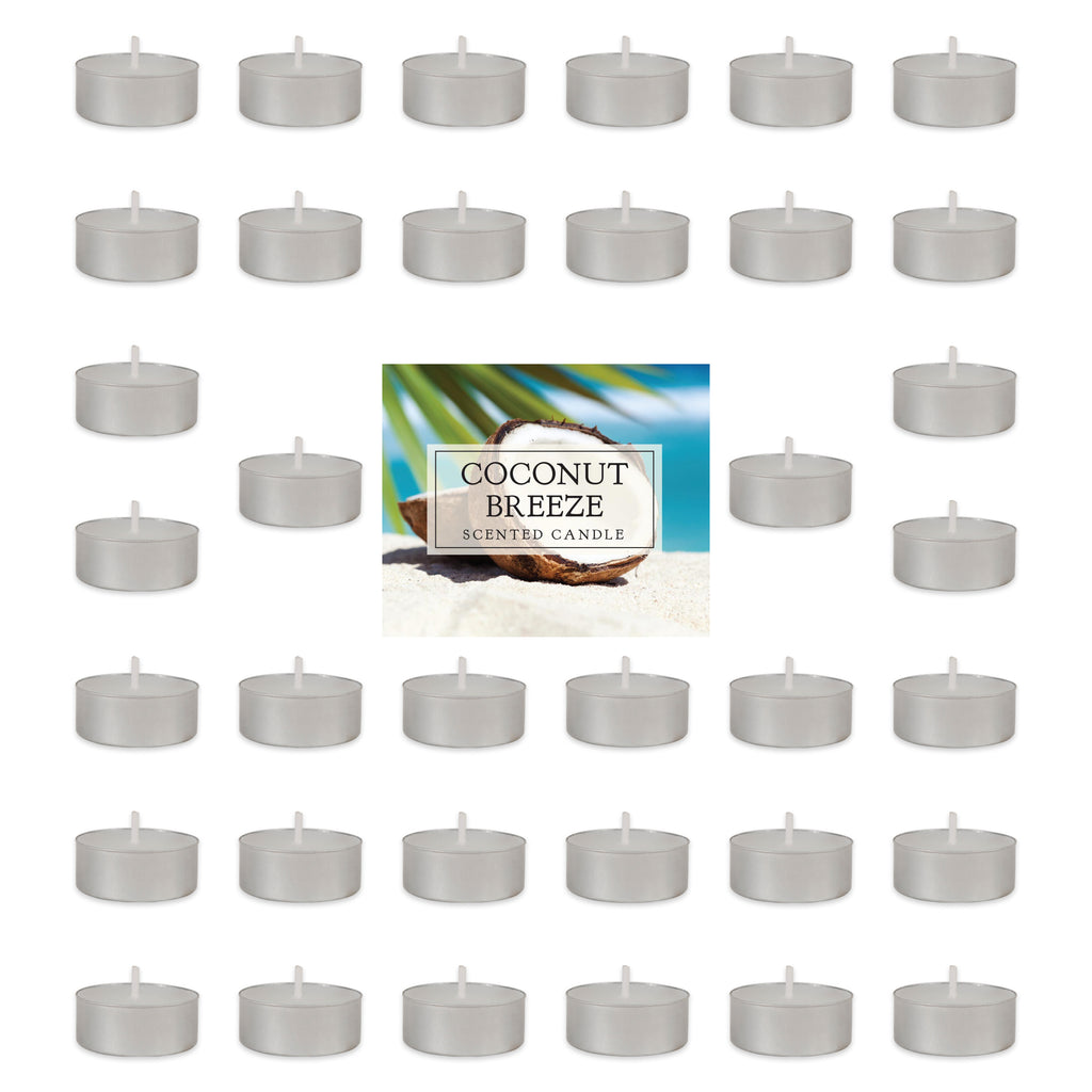 Coconut Breeze Tealights 36 Pc