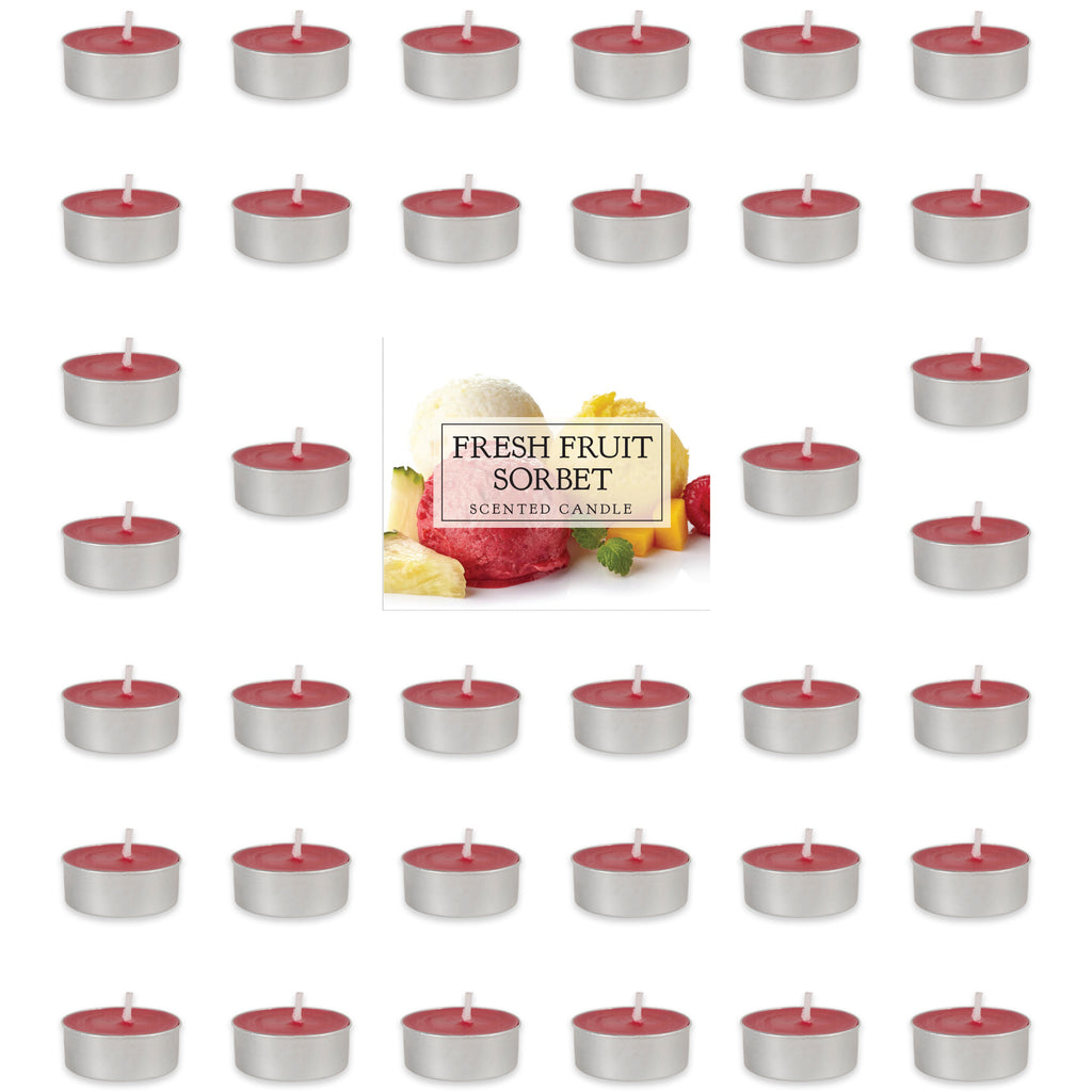 Fresh Fruit Sorbet Tealights 36 Pc