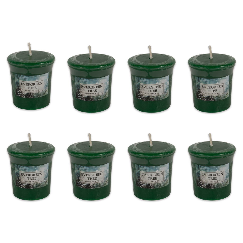 Evergreen Tree Votives 8 Pc