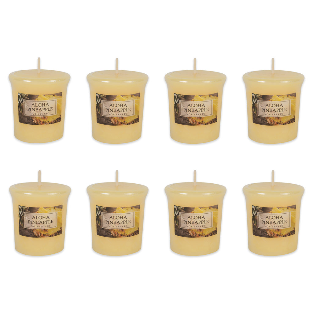 Aloha Pineapple Votives 8 Pc