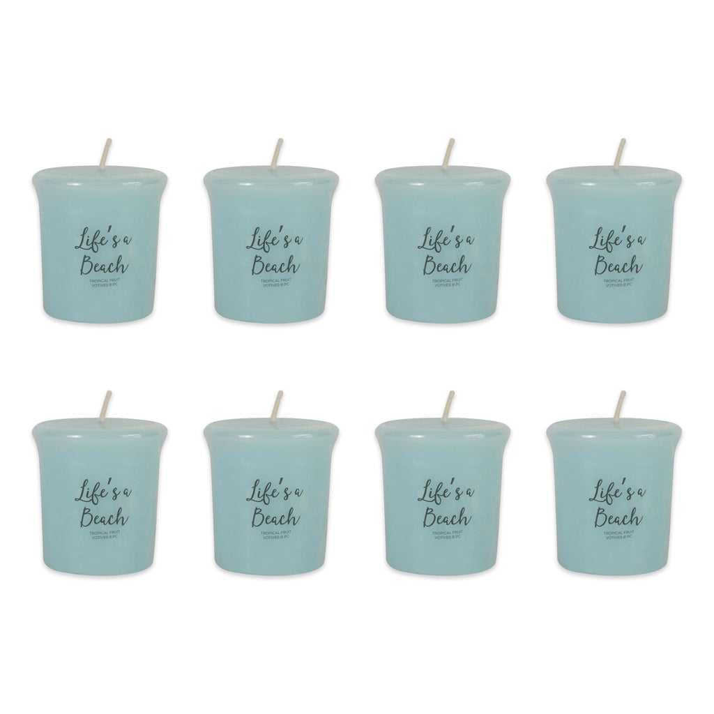 Lifes A Beach -Tropical Fruit Votives 8 Pc