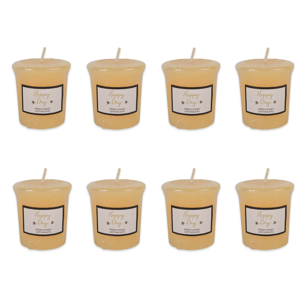 Happy Day -Honey  Votives 8 Pc