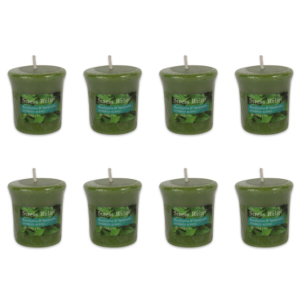 Eucalyptus Spearmint Synergy Blend Votives 8 Pc