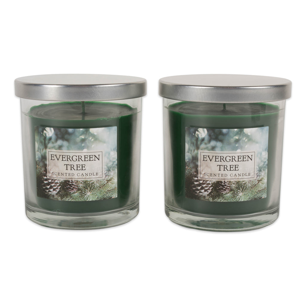 Evergreen Tree Single Wick Candle Set/2