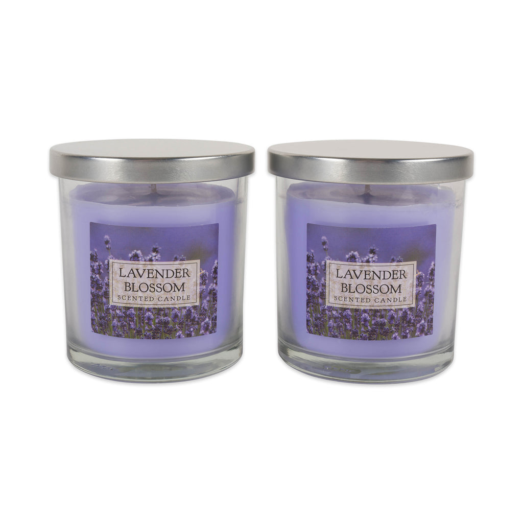 Lavender Blossom Single Wick Candle Set/2