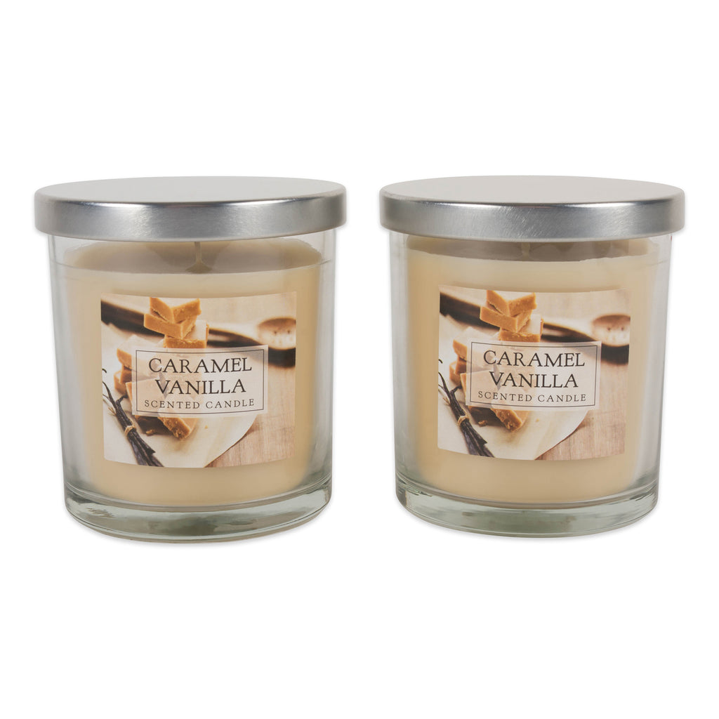 Carmel Vanilla Single Wick Candle Set/2