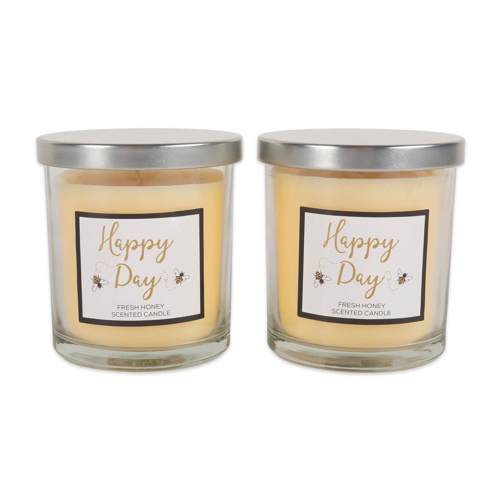 Happy Day -Honey  Single Wick Candle Set/2