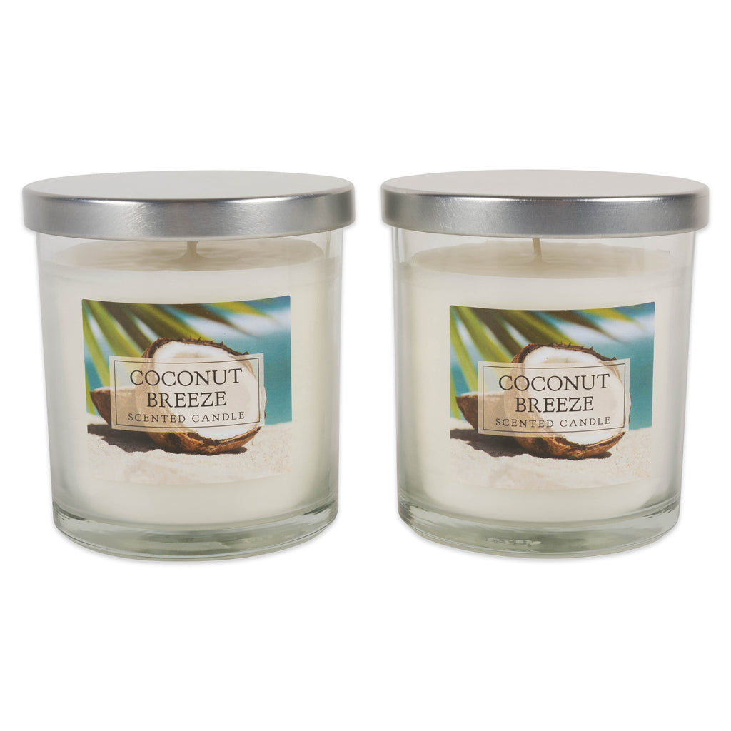 Coconut Breeze Single Wick Candle Set/2