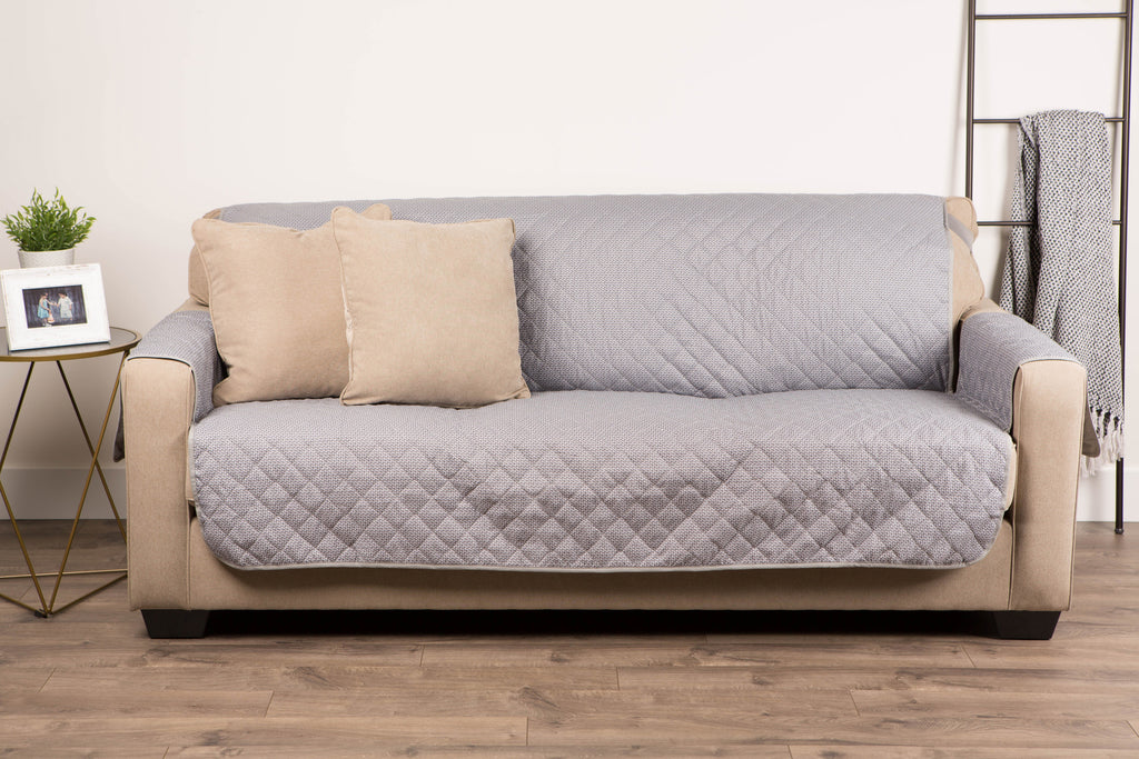 DII Reversible Sofa Cover Grey Multi Print