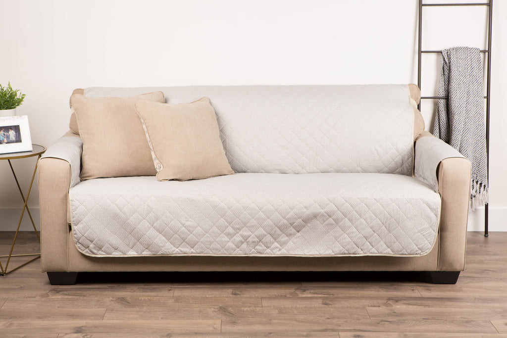 DII Reversible Sofa Cover Beige Multi Print