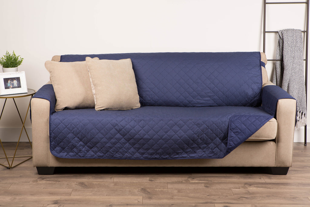 DII Reversible Sofa Cover Navy Multi Print