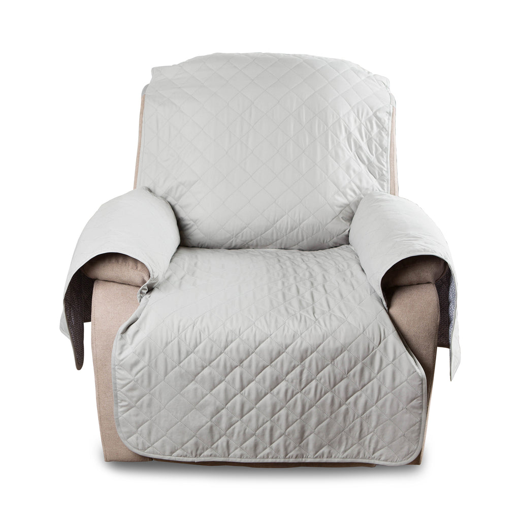 Reversible Recliner Cover Grey Multi Print