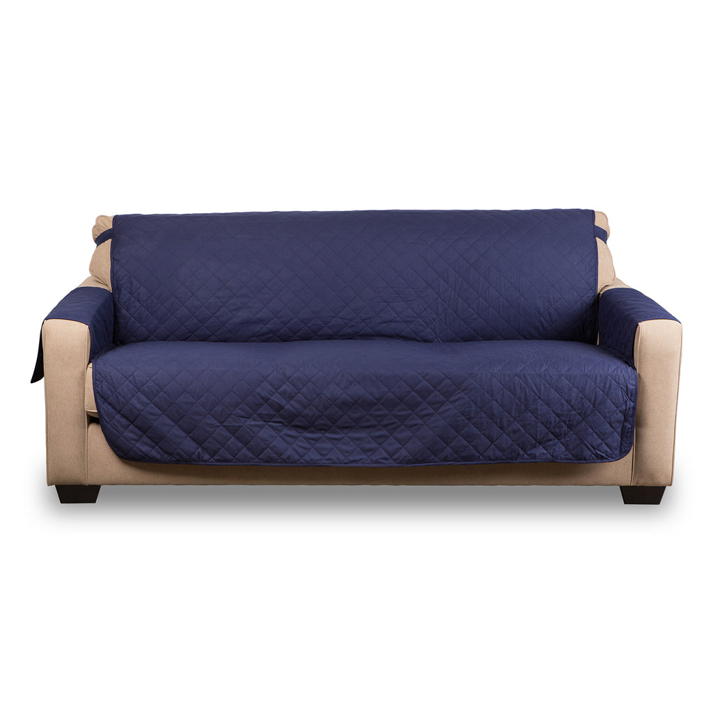 Reversible Loveseat Cover Navy Multi Print