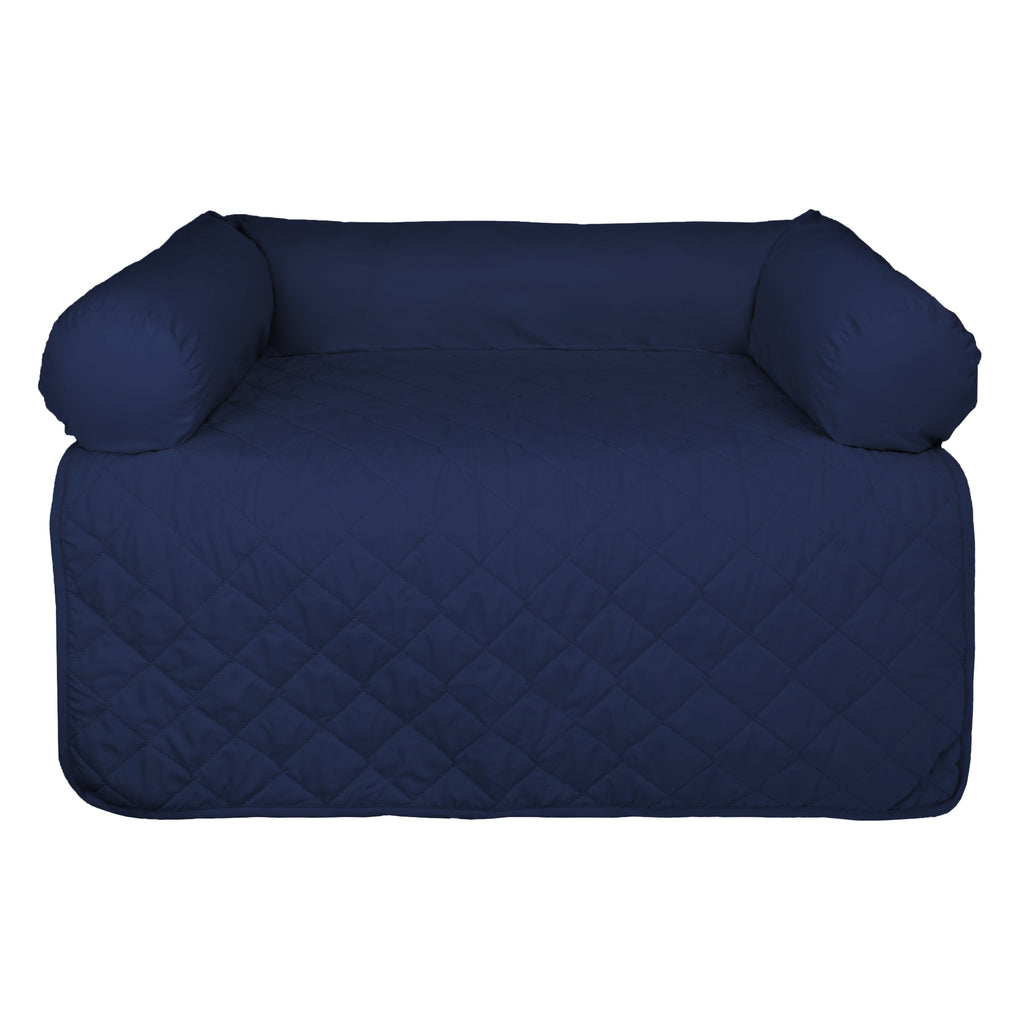 Bolster Pet Furniture Cover Navy Medium