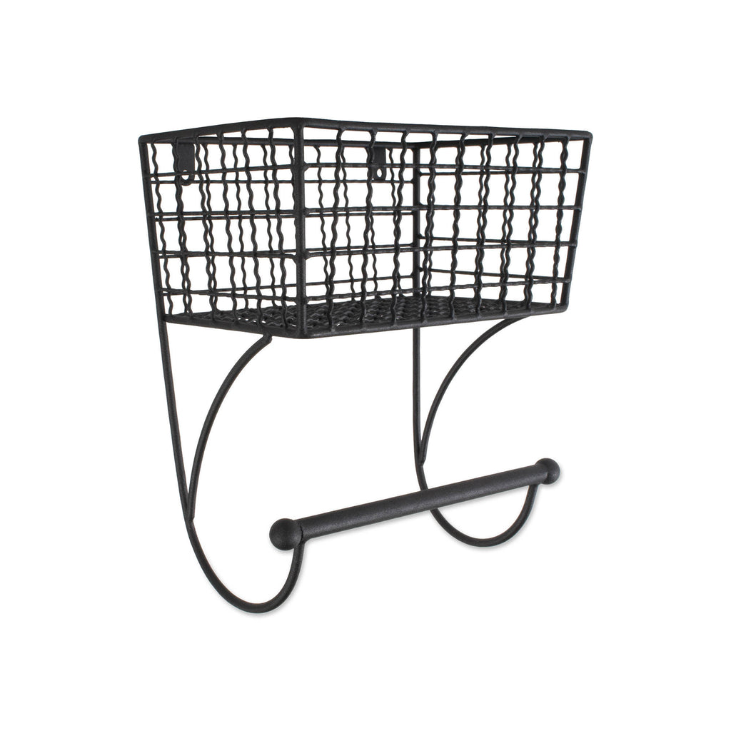 Small Black Farmhouse Towel Rack
