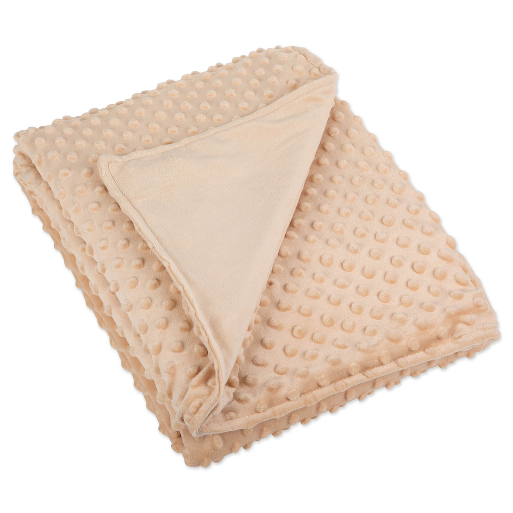 48x72 Taupe Minky Dot Sensor Weight Blanket Cover