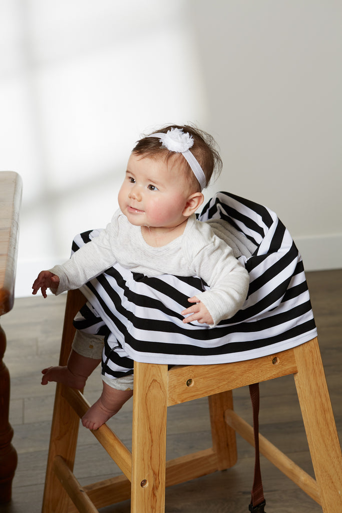 DII Black & White Stripe Multi-Use Cover