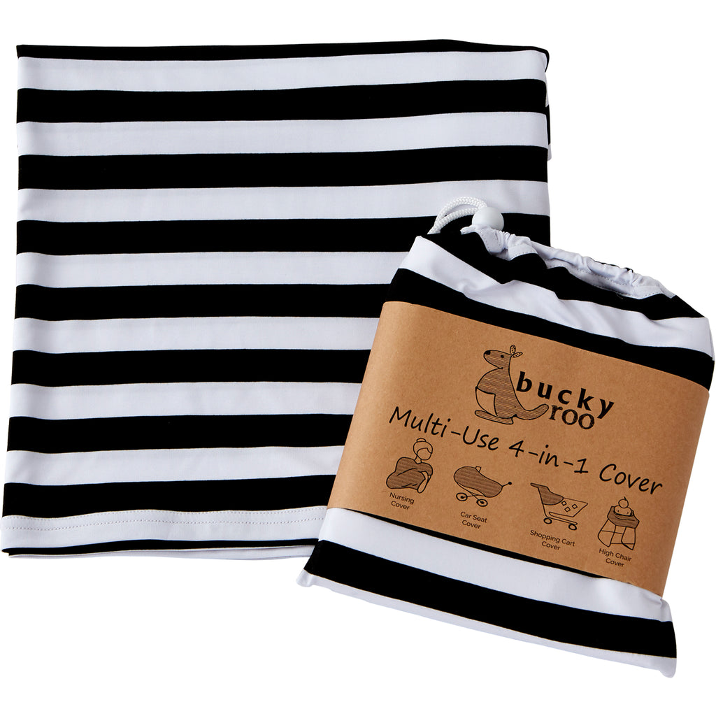 Black & White Stripe Multi-Use Cover