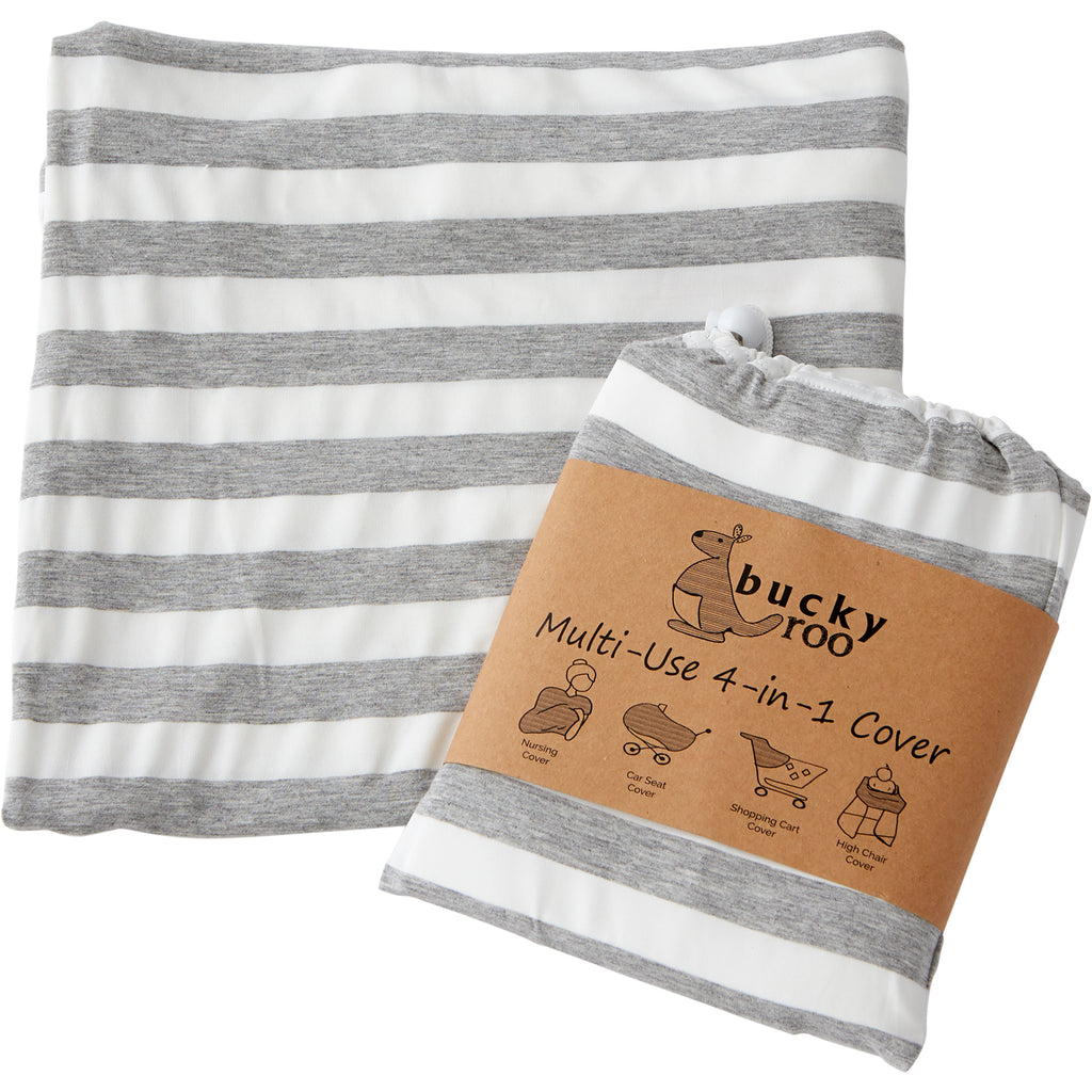 Grey & White Stripe Multi-Use Cover
