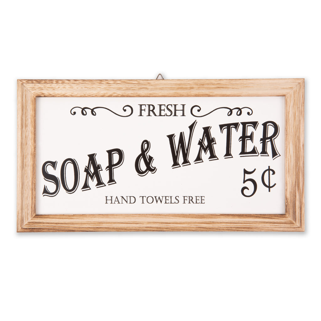 Farmhouse Soap & Water Sign