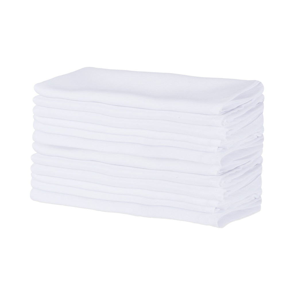 White Commercial Quality 18x18 Napkin Set/12