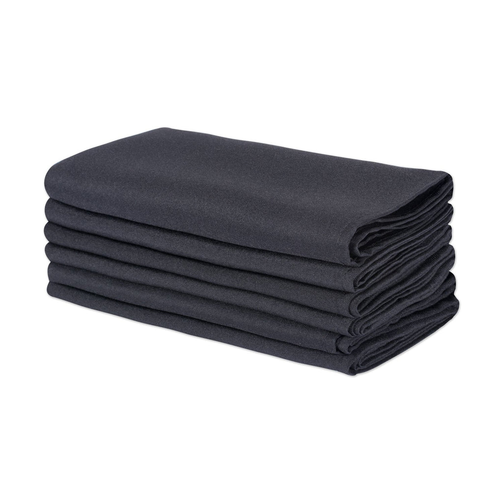 Black Commercial Quality 18x18 Napkin Set/6