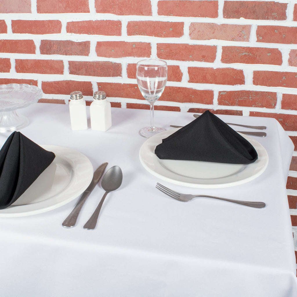 DII Black Commercial Quality Napkin (Set of 6)