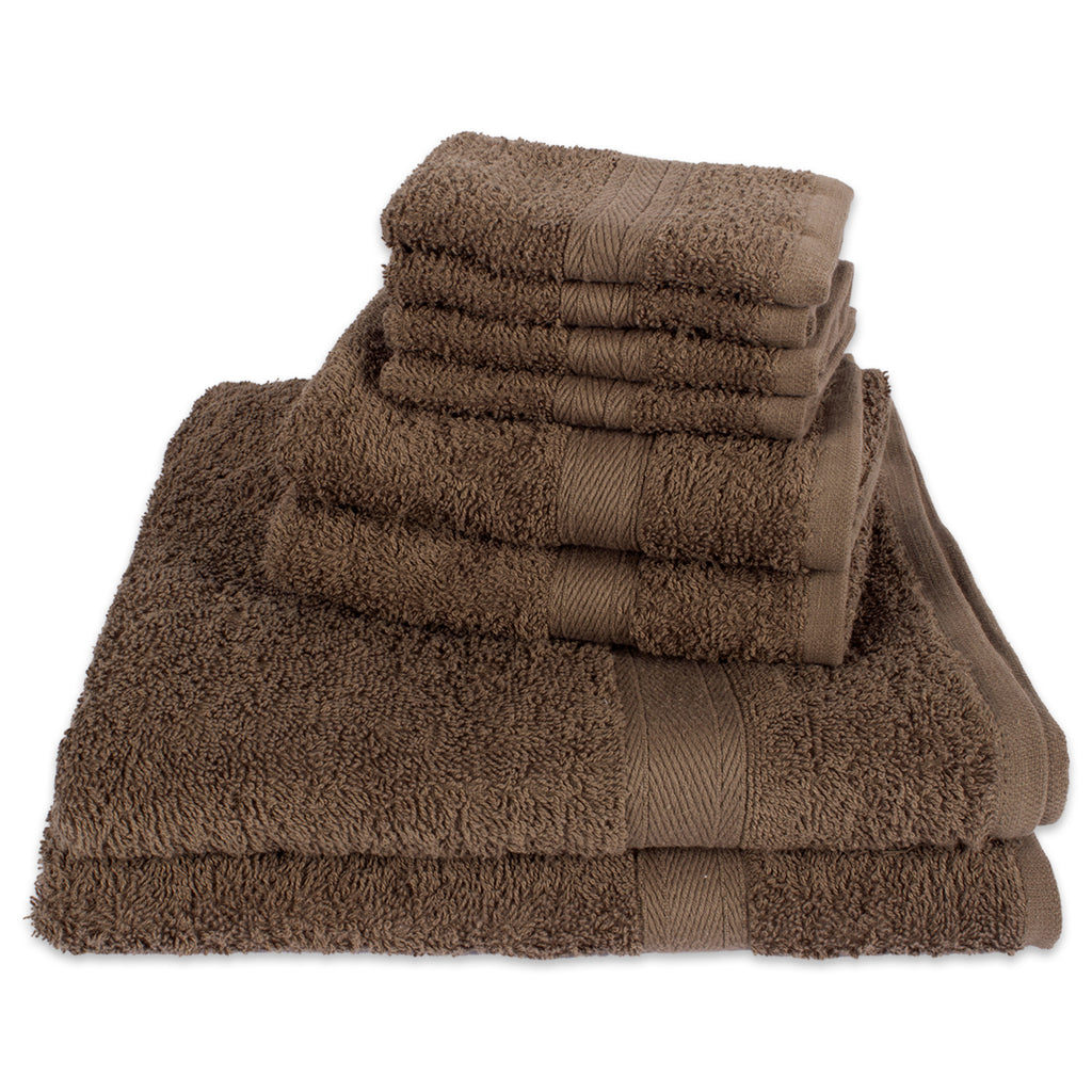 Brown 8-Piece Set Bath Towels
