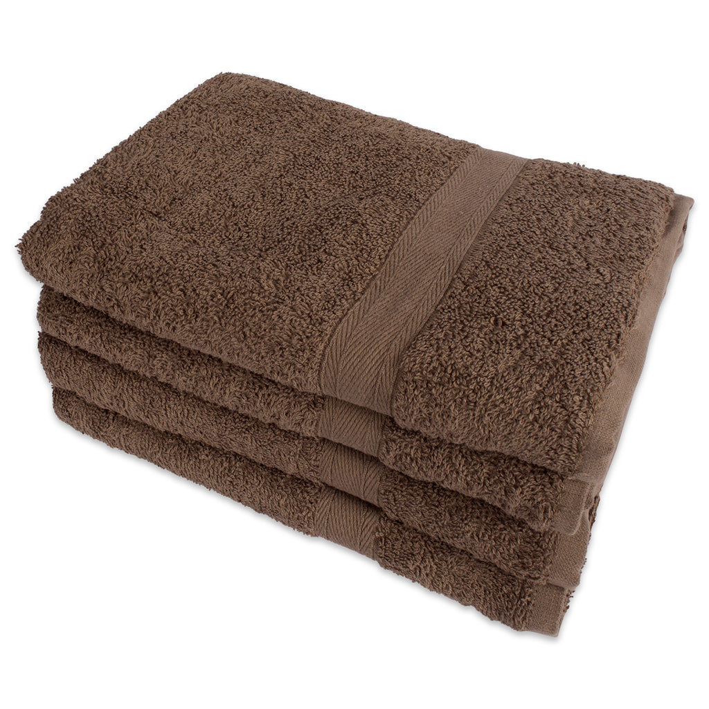 Brown Hand Towels Set/4