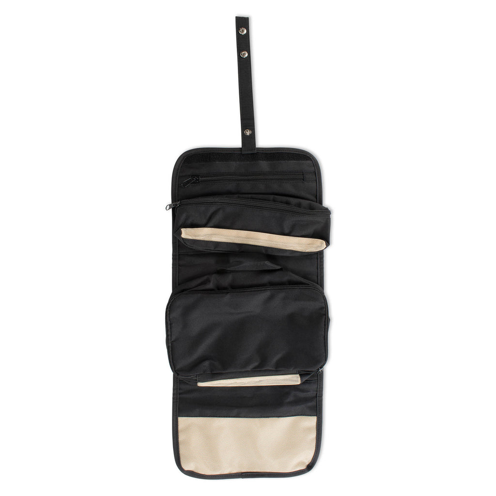 Black Rolled Toiletry Bag