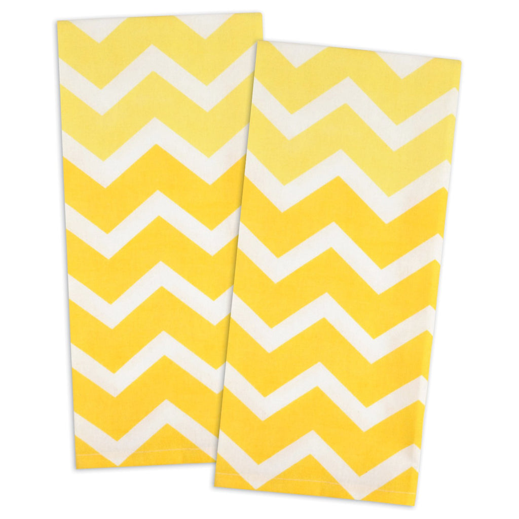 DII Yellow Chevron Dishtowel (Set of 2)