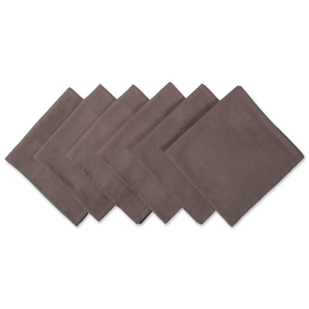 Dark Brown Napkin Set/6