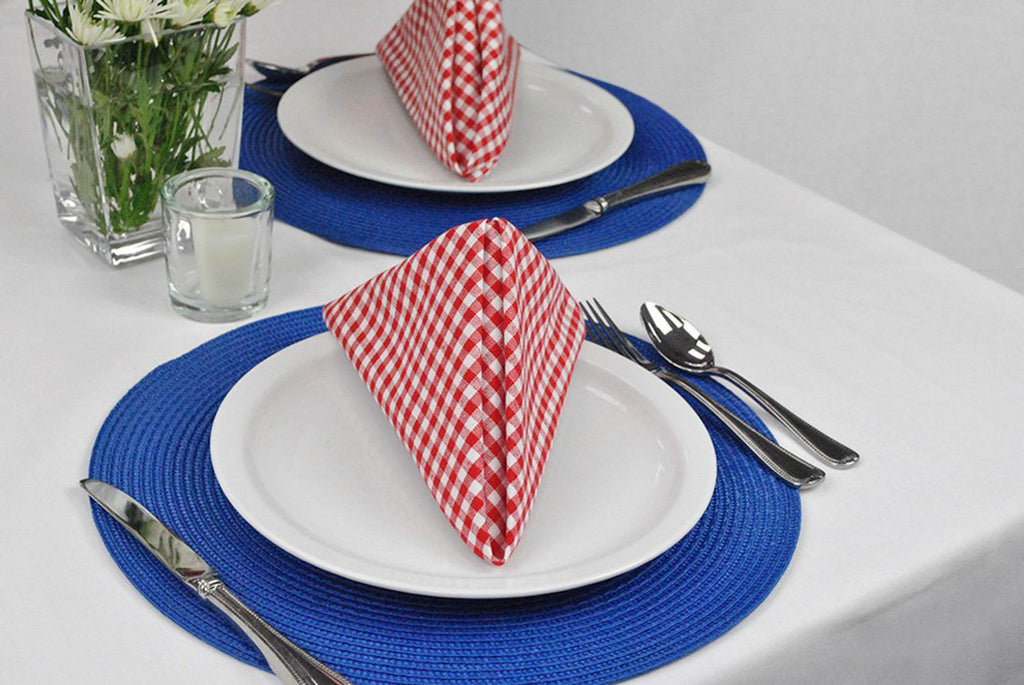DII Nautical Blue Round Polypropylene Woven Placemat (Set of 6)