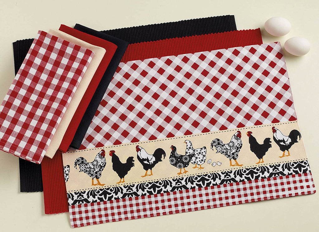 DII Tango Red Gingham Check Napkin (Set of 6)
