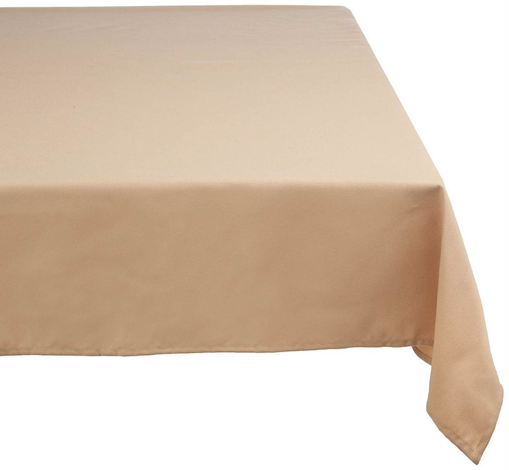 Beige Polyester Tablecloth 60x120