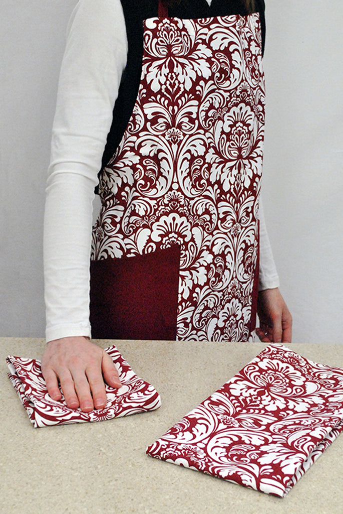 DII Wine Damask Apron