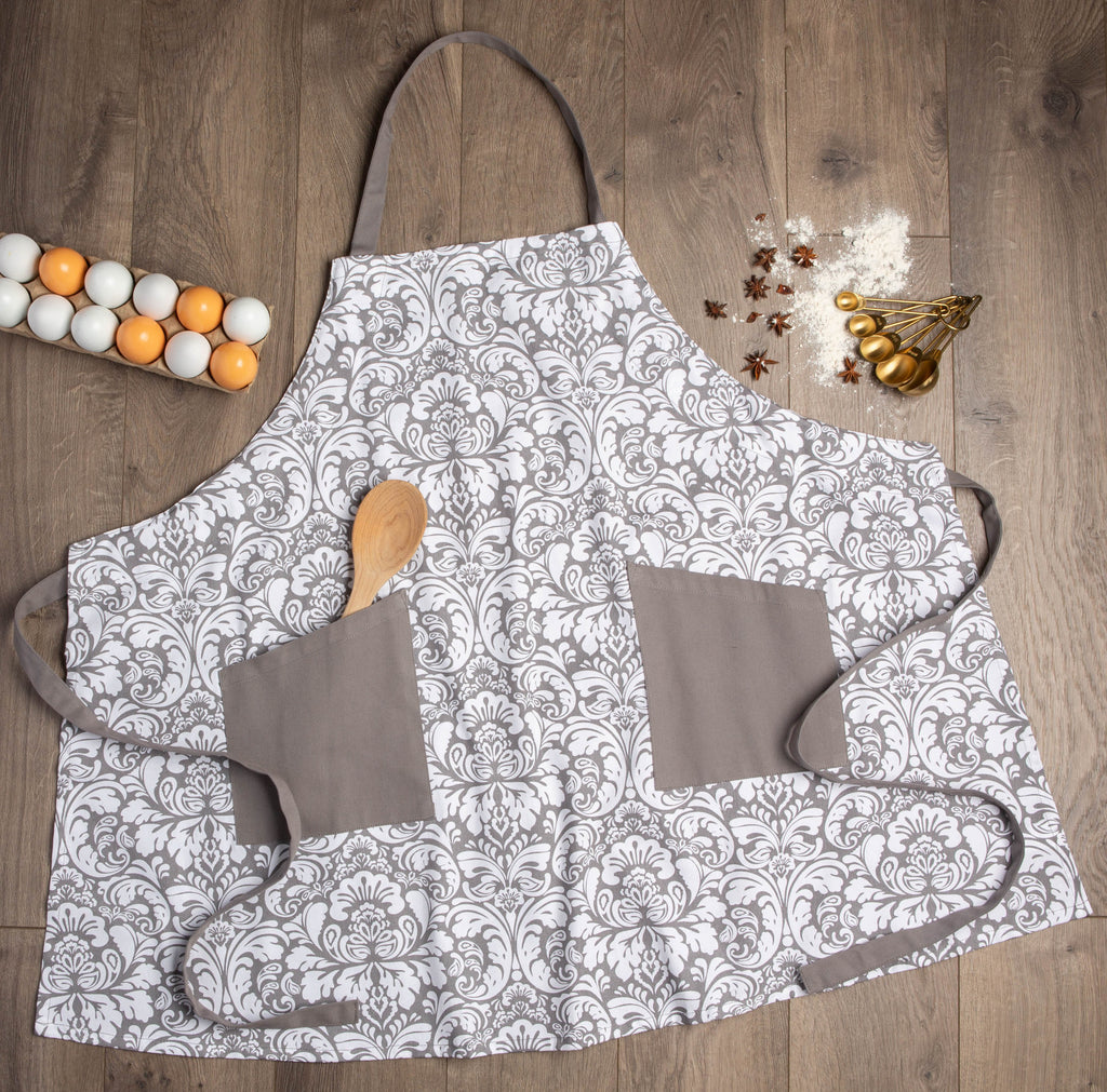 DII Gray Damask Apron