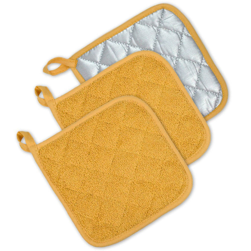 Mustard Terry Potholder Set/3