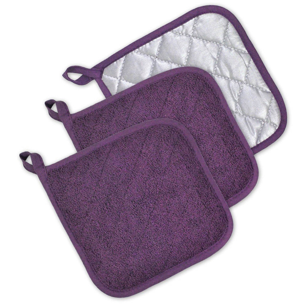 Eggplant Terry Potholder Set/3