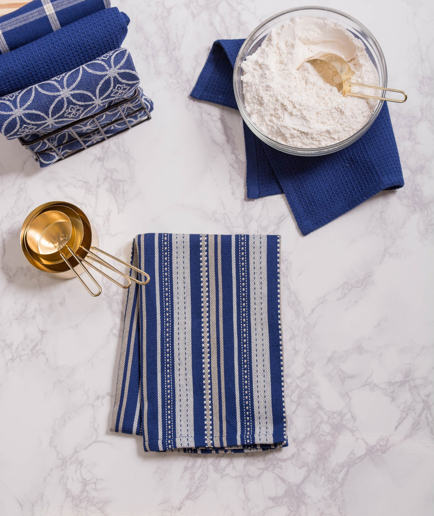 DII Assorted Nautical Blue Dishtowel & Dishcloth (Set of 5)