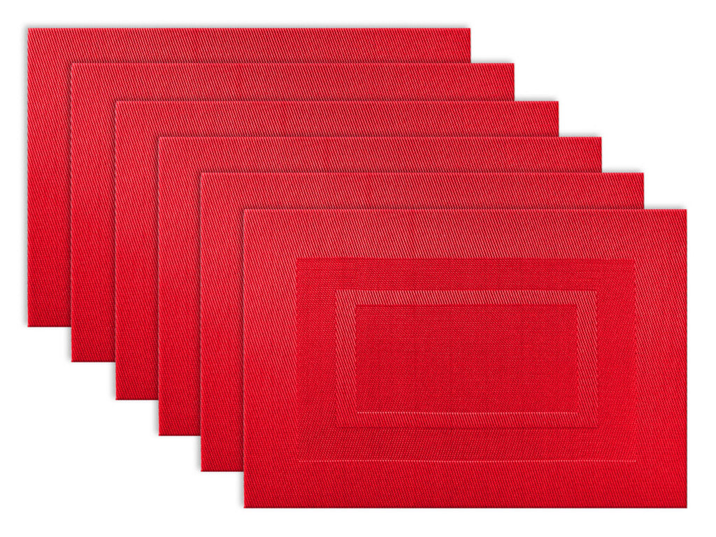 Tango Red Pvc Doubleframe Placemat Set/6