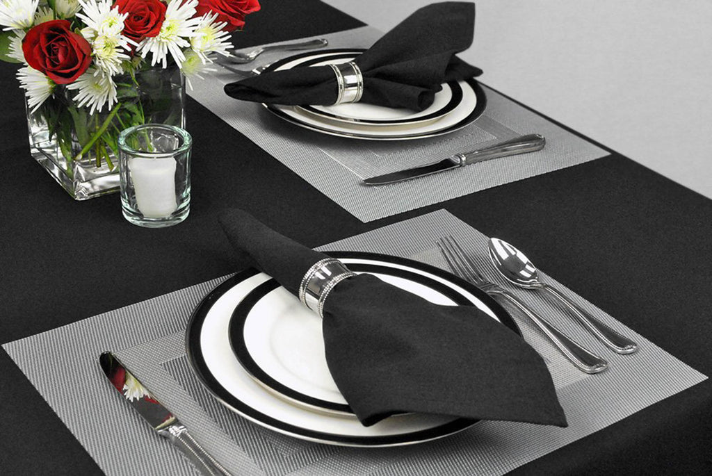 DII Silver PVC Doubleframe Placemat Set