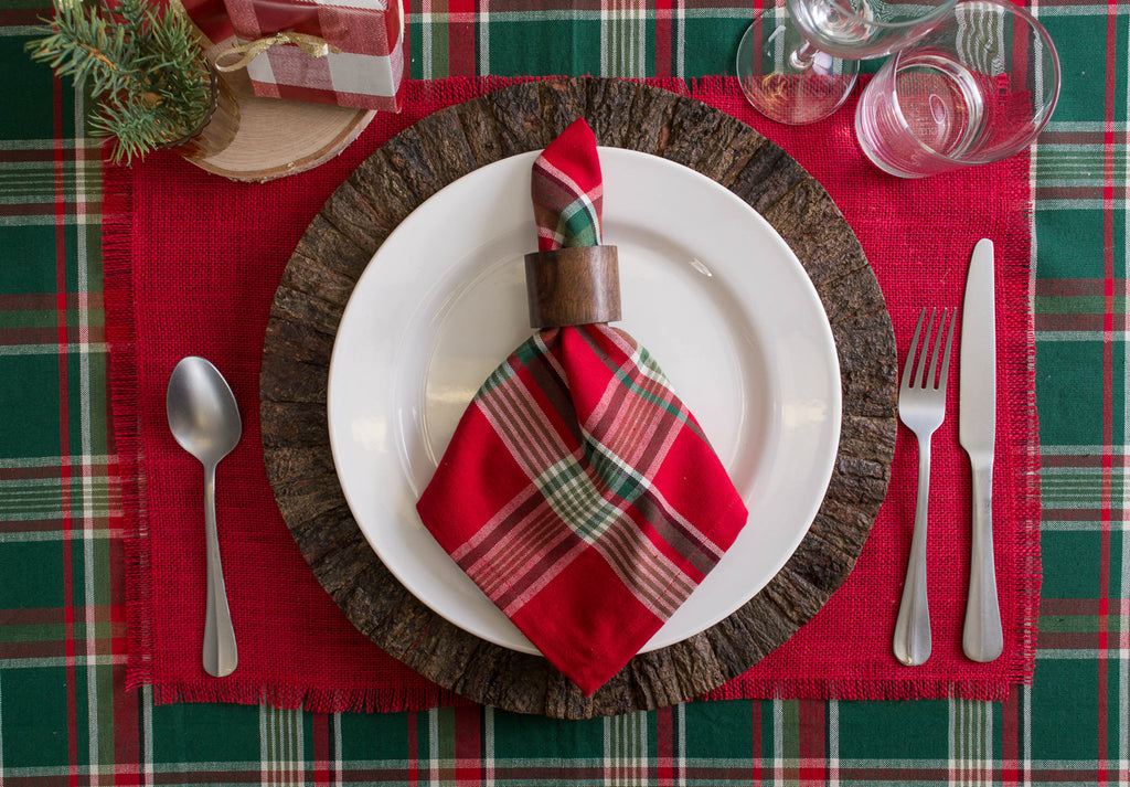 DII Tango Red Plaid Napkin (Set of 6)