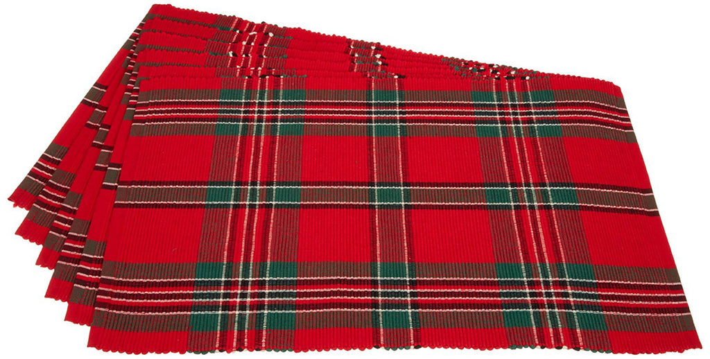 Holiday Plaid Placemat Set/6