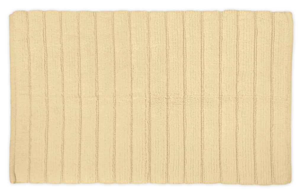 Cream Ribbed Rug 21x34