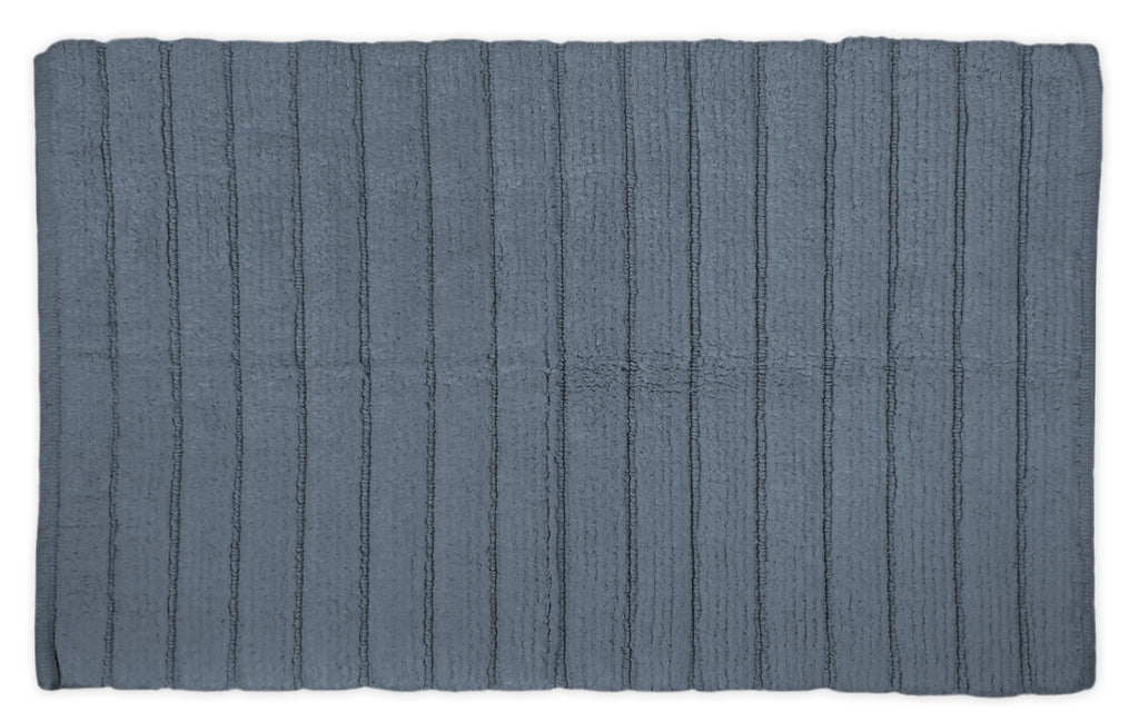 Stone Ribbed Rug Blue 21x34