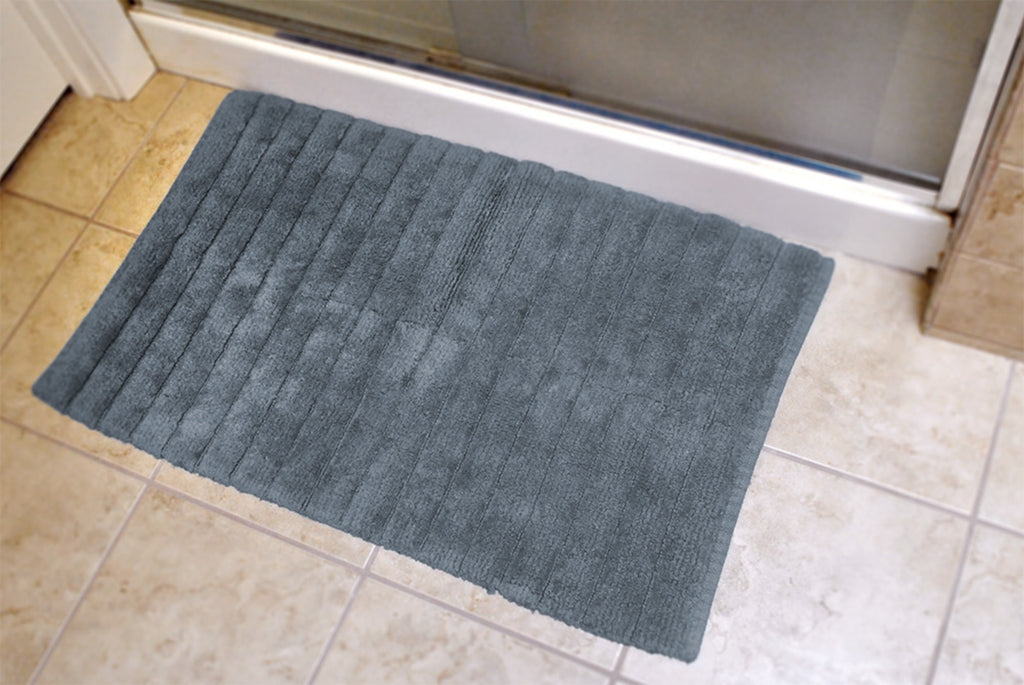 DII Stone Ribbed Rug Blue