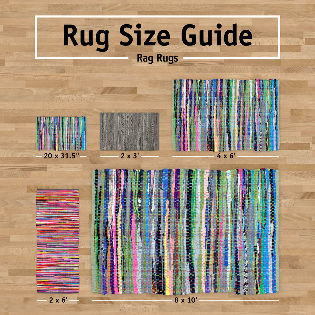 DII Multi Nautical Blue Rag Rug